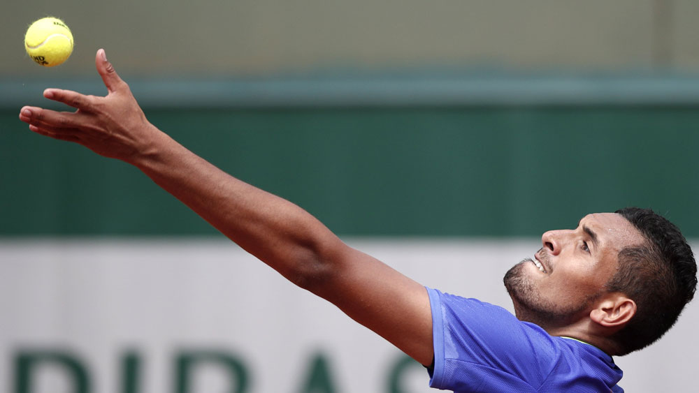 French Open glance: Kyrgios loses racket, match; Keys out