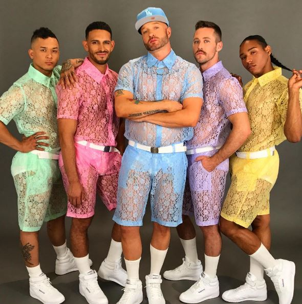Internet Reacts to Lace Shorts for Men