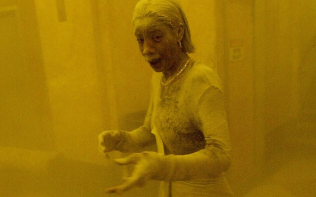 Dust-covered 9/11 survivor Marcy Borders died of stomach cancer in 2015. (AFP)