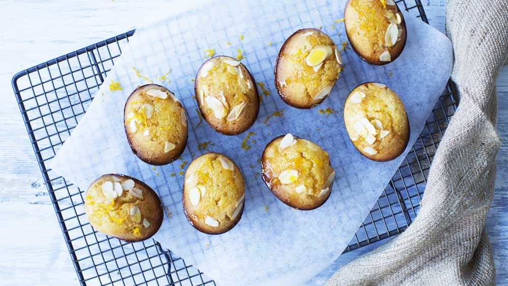 Orange almond friands