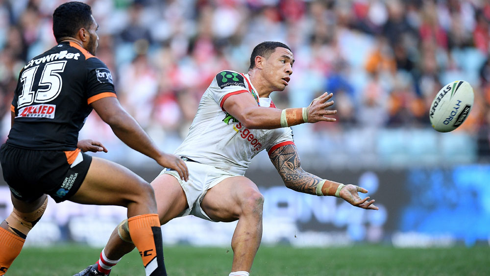 NSW forward Tyson Frizell suffered a rib injury as the Dragons beat the Tigers. (AAP)