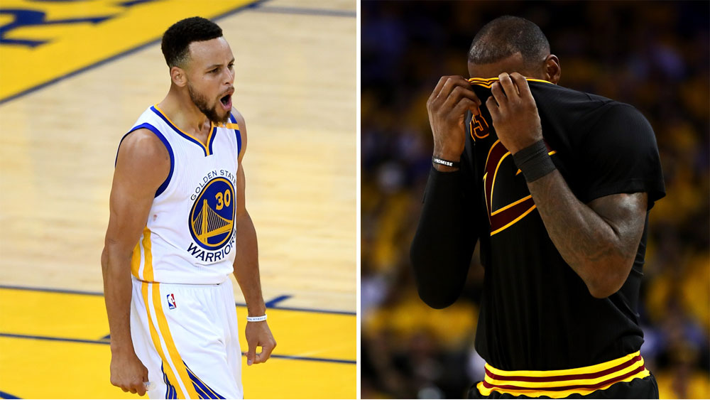 Steph Curry and LeBron James.