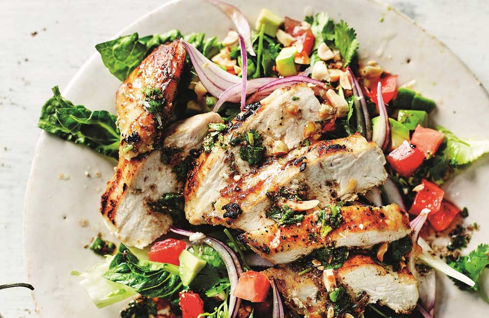 Anjum Anand's griddled chopped chicken salad_recipe