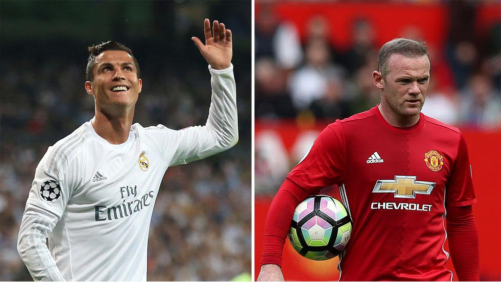 Cristiano Ronaldo and Wayne Rooney.