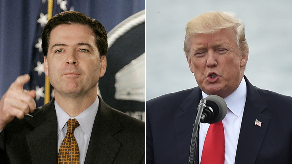 Former FBI director James Comey; US President Donald Trump. (AFP)