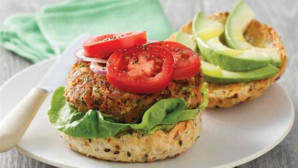 Beef and sweet potato burgers recipe