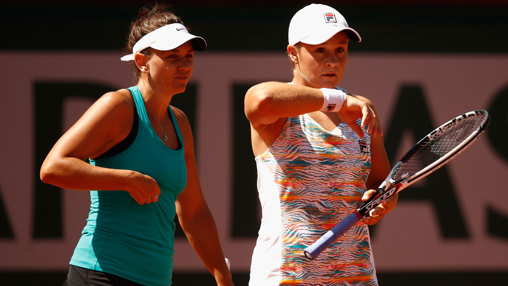 Casey Dellacqua and Ashleigh Barty.