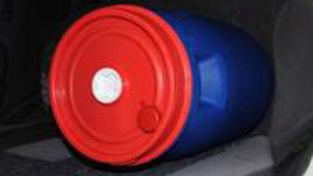 A barrel which was stored inside the bomber's car. (Supplied/Greater Manchester Police)