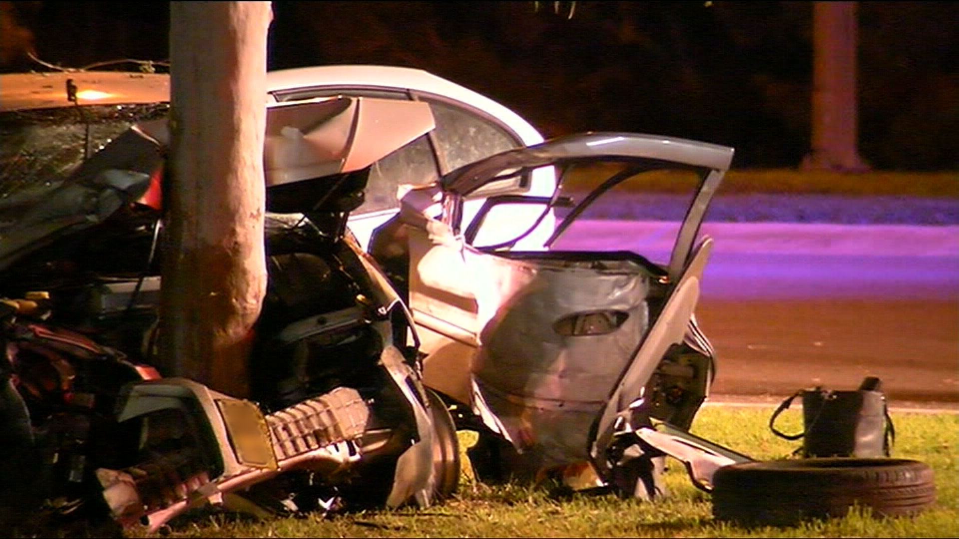 The car smash left three injured, but there were no fatalities. (9NEWS)