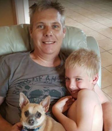 "Mr Scott was described as a ""fantastic father"" to nine-year-old Andy. (9NEWS)"