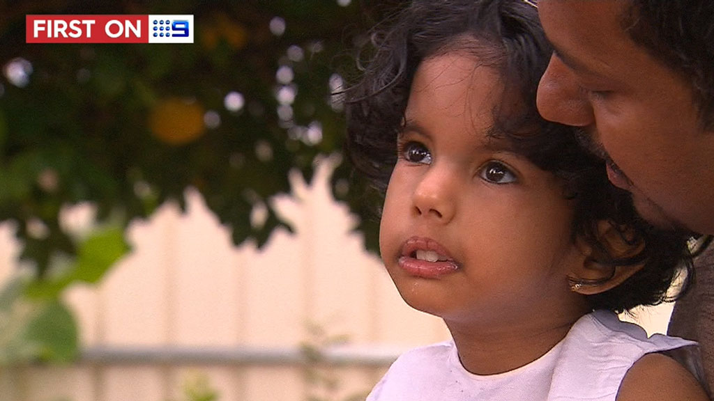 Mary, now three years old, relies on the care of her parents an an Adelaide doctor. (9NEWS)