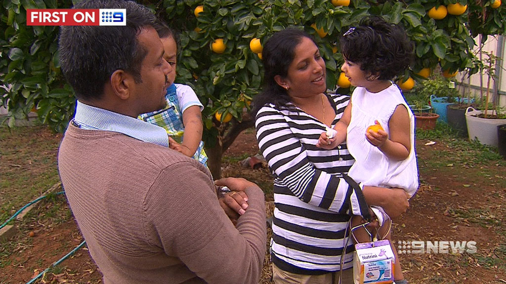 The George family arrived from India in 2011 on student visas. (9NEWS)