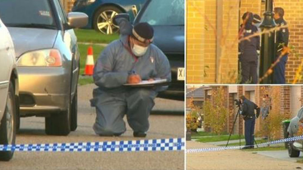 The suspects reportedly intended to kill a former Mongols MC bikie who lived on the same street. (9NEWS)