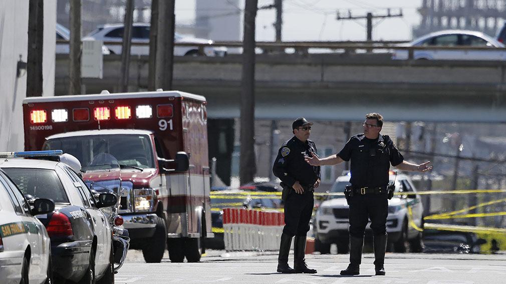 It's understood the gunman was a disgruntled UPS employee. (AAP)