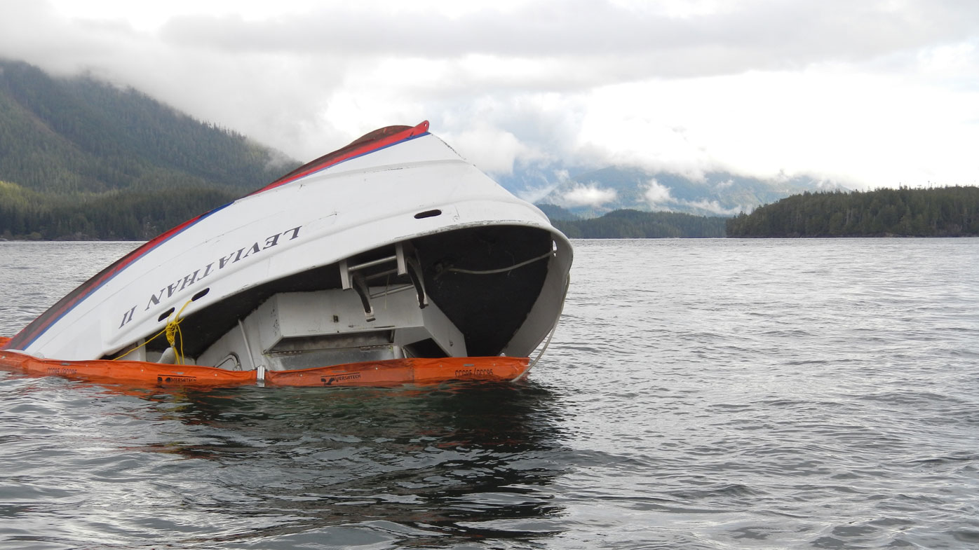 Theories of a rogue wave striking the Leviathan II were ruled out. (Photo: AFP)