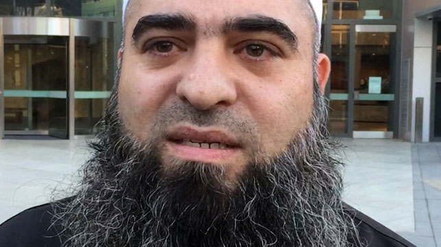 Hamdi Alqudsi was jailed for sending Australians to fight with ISIS. (AAP)