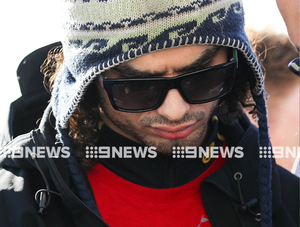 The man was arrested at Sydney Airport this morning. (Source: Backgrid)