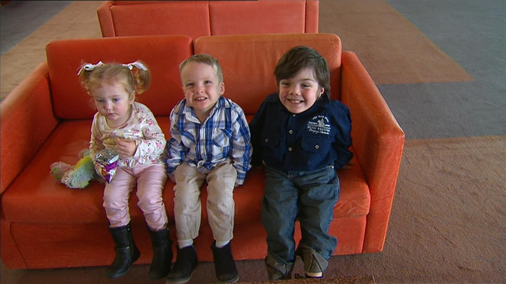 Ivy Brown, Kalten Nelson and Beau Cosgrove are set to benefit from the subsidy. (9NEWS)