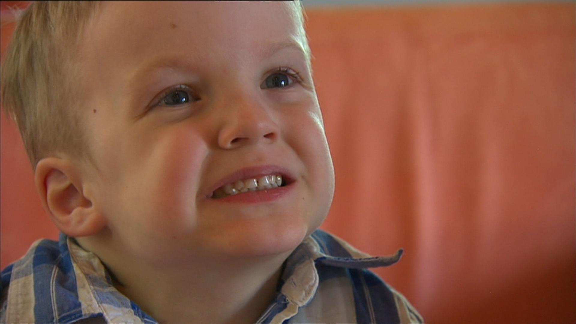 Kalten Nelson from Cooma was all smiles. (9NEWS)