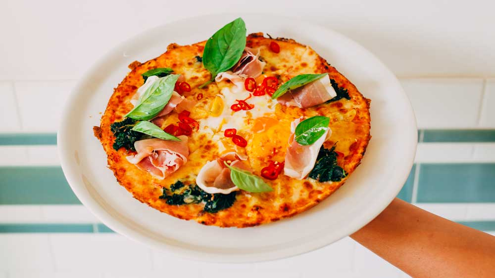 Mrs. Sippy brunch pizza