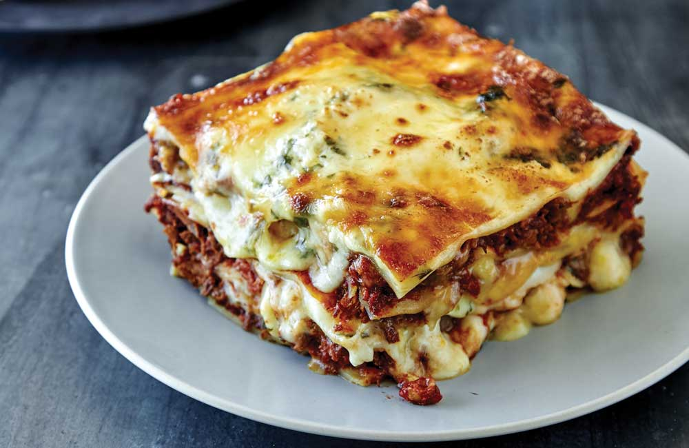 "Recipe: <a href=""http://kitchen.nine.com.au/2017/06/13/14/24/osso-bucco-and-pork-shoulder-lasagne"" target=""_top"" draggable=""false"">Osso bucco and pork shoulder lasagne</a><br /> <br /> More: <a href=""http://kitchen.nine.com.au/2017/06/13/17/08/recipes-you-can-cook-for-your-pregnant-partner-that-shell-actually-love"" target=""_top"" draggable=""false"">recipes from <em>A House Husbands' Guide: Cooking for your Pregnant Partner</em> cookbook by Aaron Harvie (New Holland Publishers)</a>"