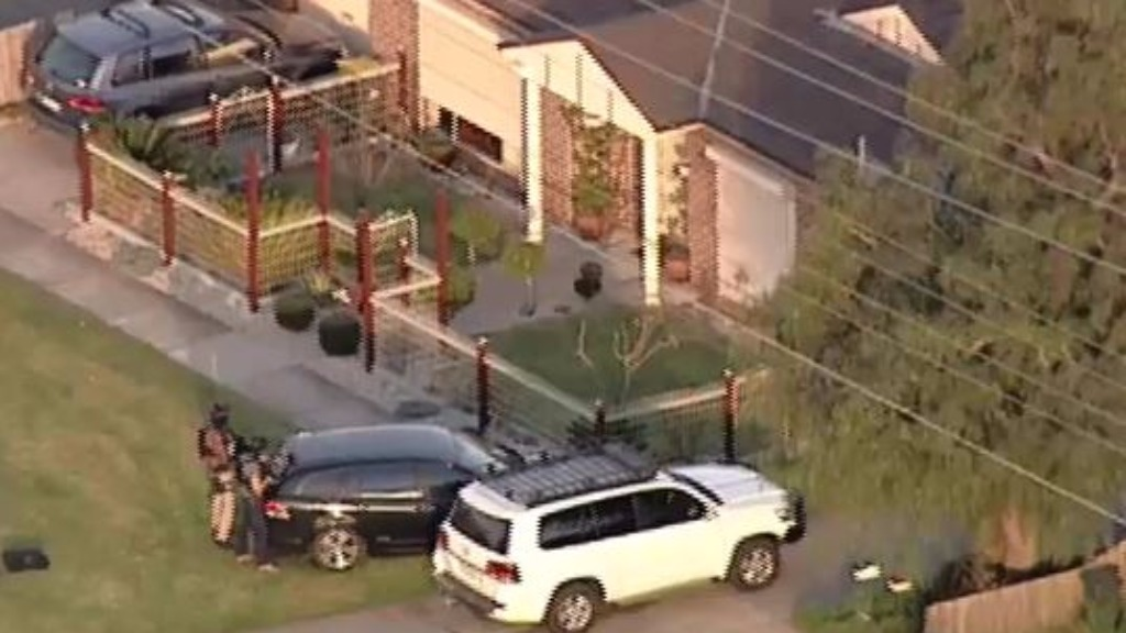 The alleged siege unfolded from 2pm yesterday (9NEWS)