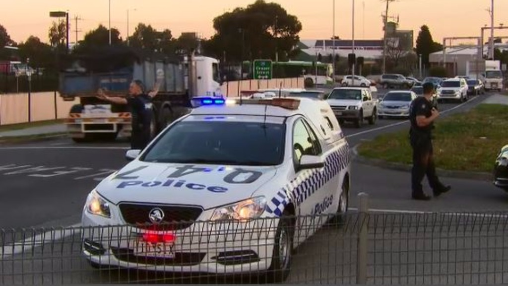Traffic was diverted in the area. (9NEWS)