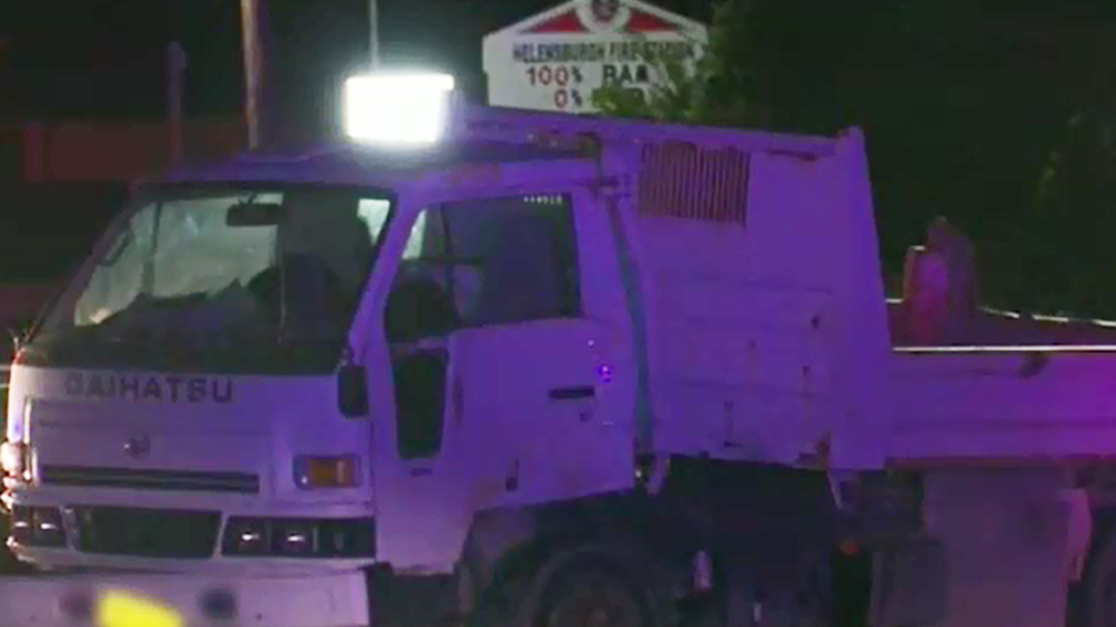 The truck was parked and unattended. (9NEWS)