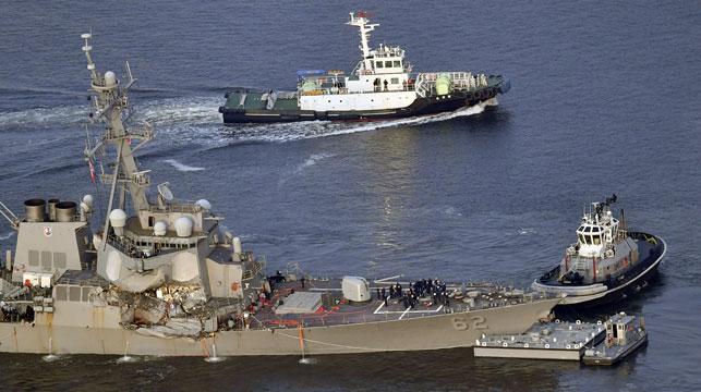 Sailors found dead on US destroyer