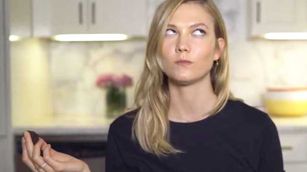 Karlie Kloss tries three viral food trends - YouTube/Klossy Kitchen