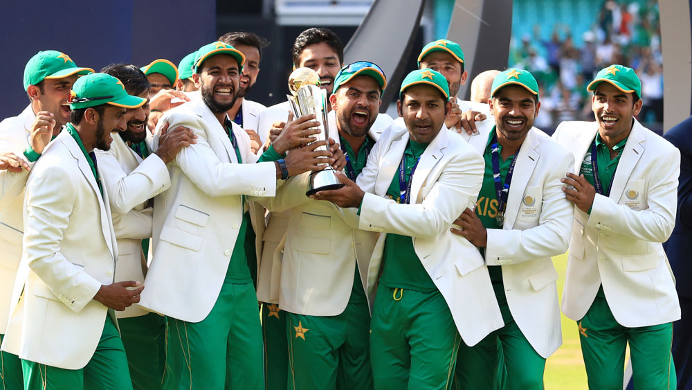 Pakistan win Champions Trophy.