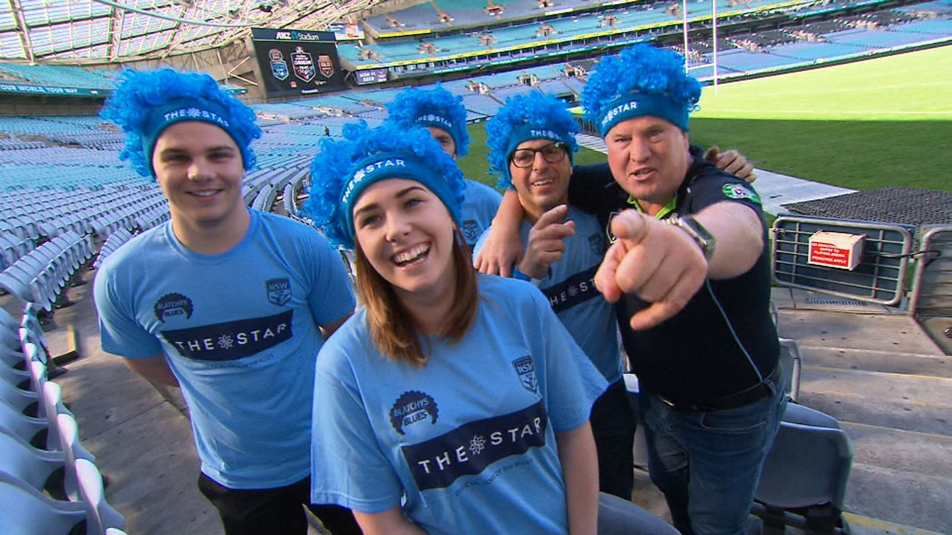 Some Blues supporters. (9NEWS)