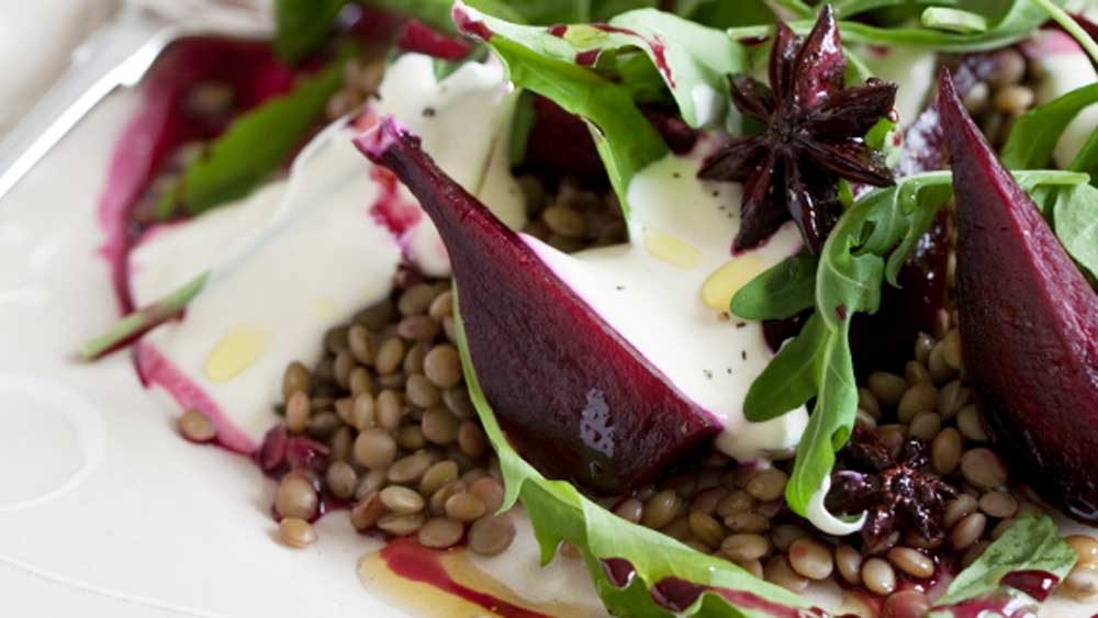 Lentil salad with baby beets and feta_thumb