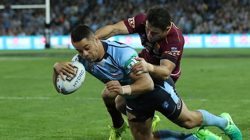 Jarryd Hayne scores for NSW. (Getty)