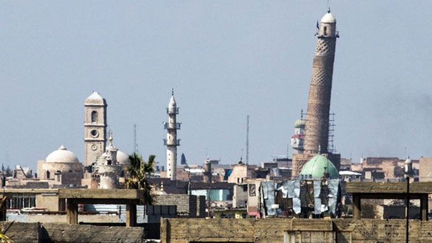 Islamic State destroys ancient mosque and iconic 'leaning minaret' in the heart of Mosul