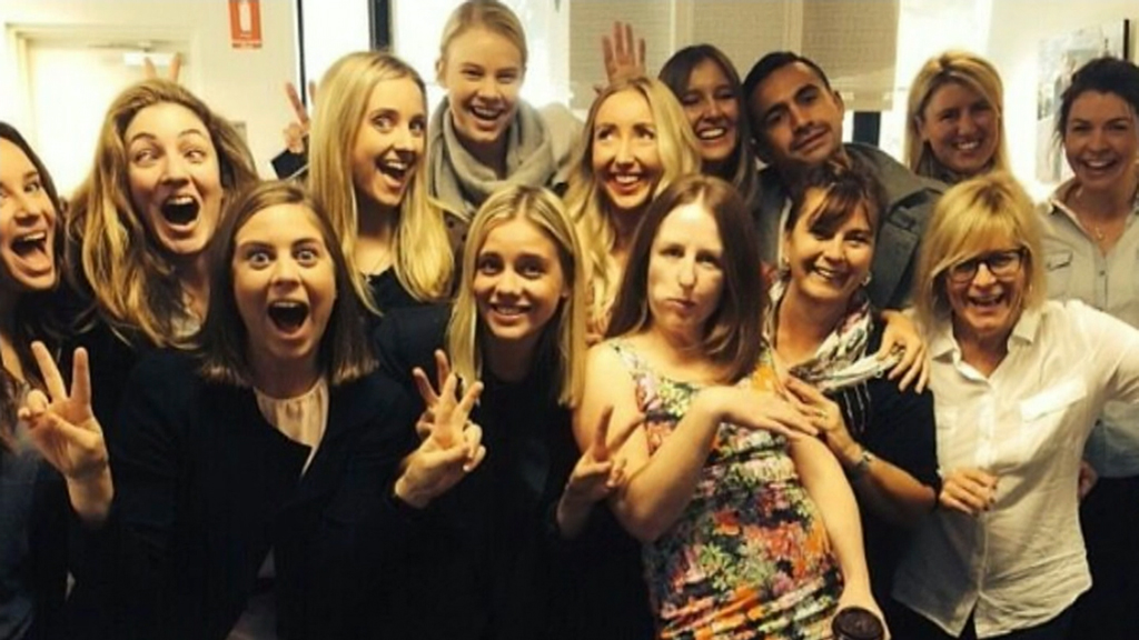 Ms Bayliss with her TODAY Show colleagues. (Supplied)