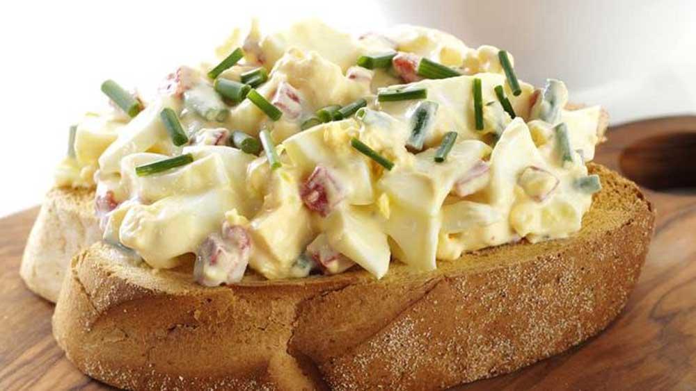 "Recipe: <a href=""http://kitchen.nine.com.au/2017/06/22/09/32/russian-egg-salad"" target=""_top"">Russian egg salad on rye</a>"