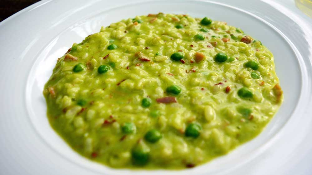 Tutto Bene's risi e bisi (rice and pea risotto)