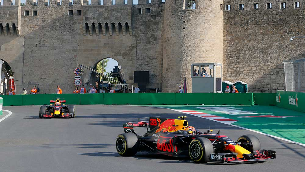 The Red Bull team produced strong results in the opening practice sessions. (AAP)