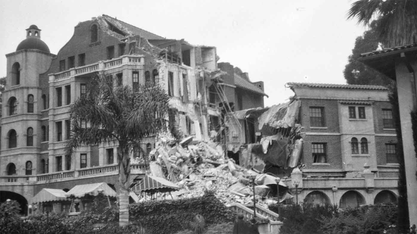 Debris from the 1925 earthquake.