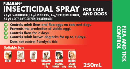 """The flea spray is known to be """"highly toxic"""" to cats in high doses. (Product Review)"""
