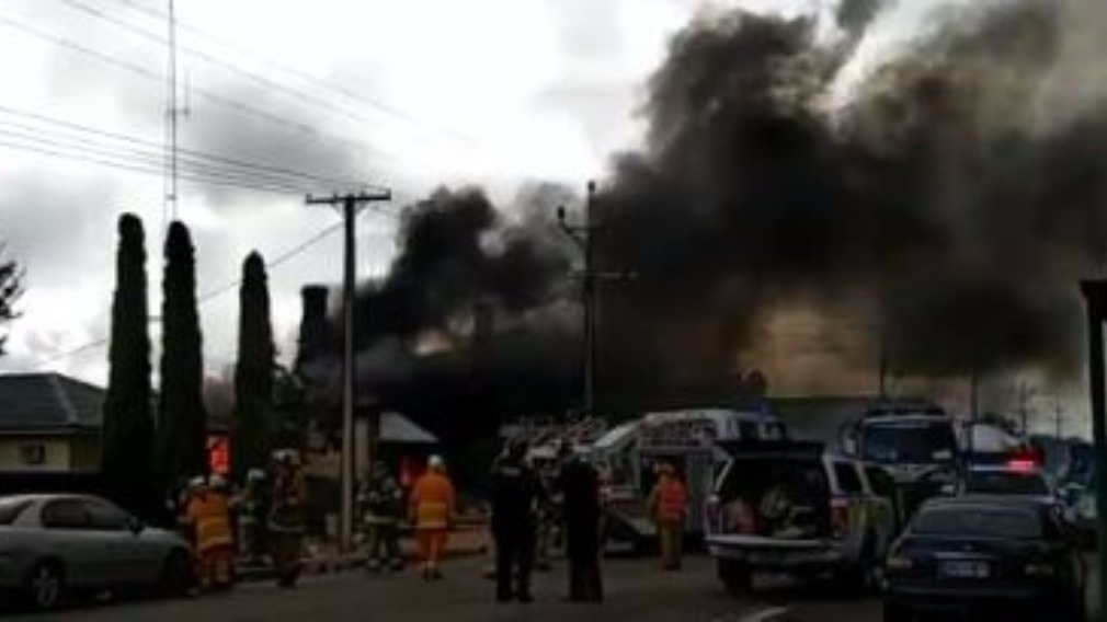 Man burned in major SA house fire