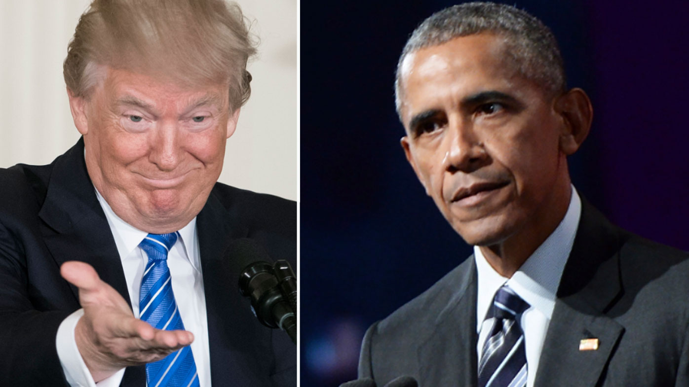 Trump blames Obama for Russian election scandal