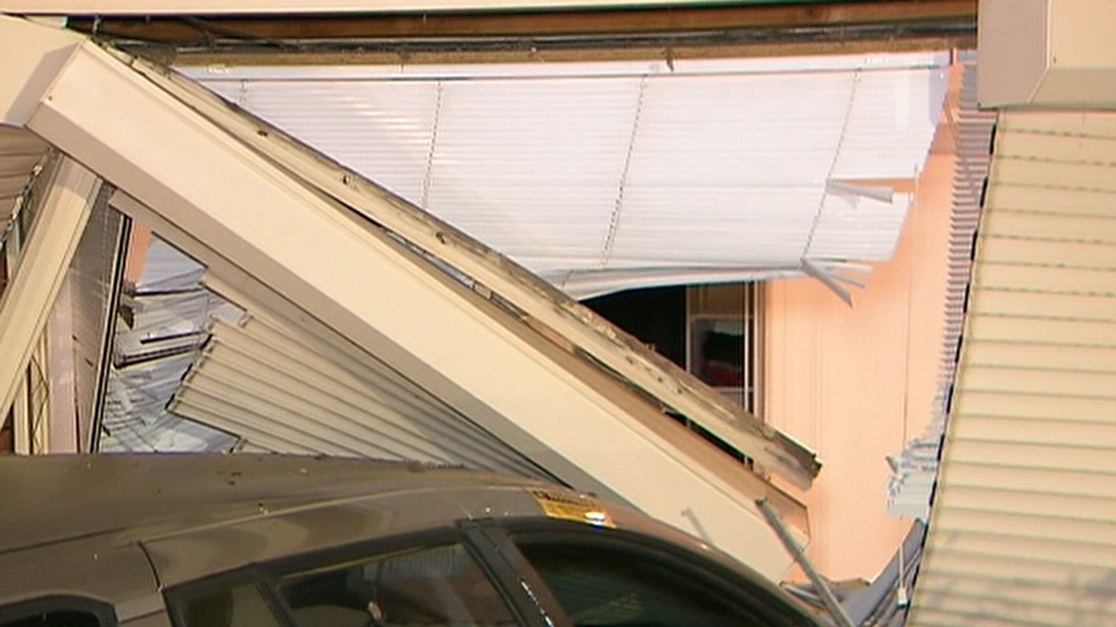 A learner driving unsupervised has crashed into an Adelaide home. (9NEWS)