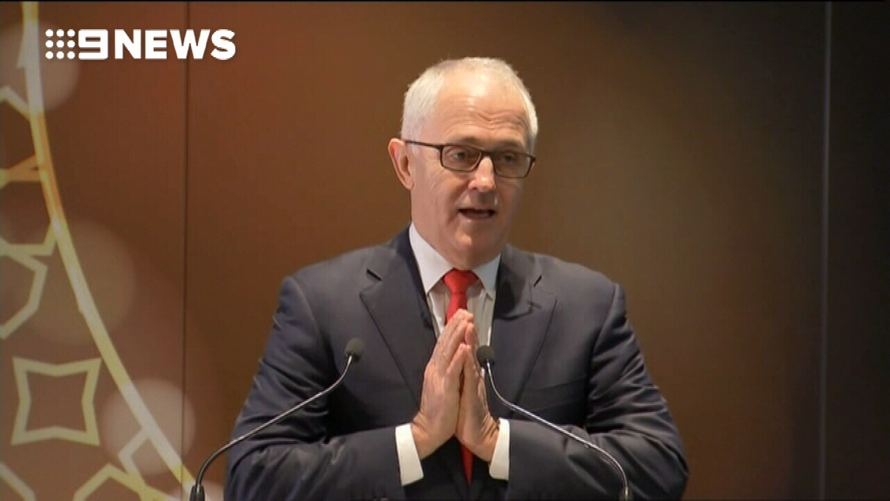 """""""To those who seek to create this unity and tension and conflict, we say 'we come together in a spirit of mutual respect and peace',"""" the prime minister said. (9NEWS)"""