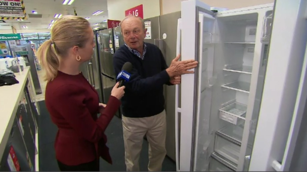 Gerry Harvey from Harvey Norman showed 9NEWS some of the best deals in store. (9NEWS)