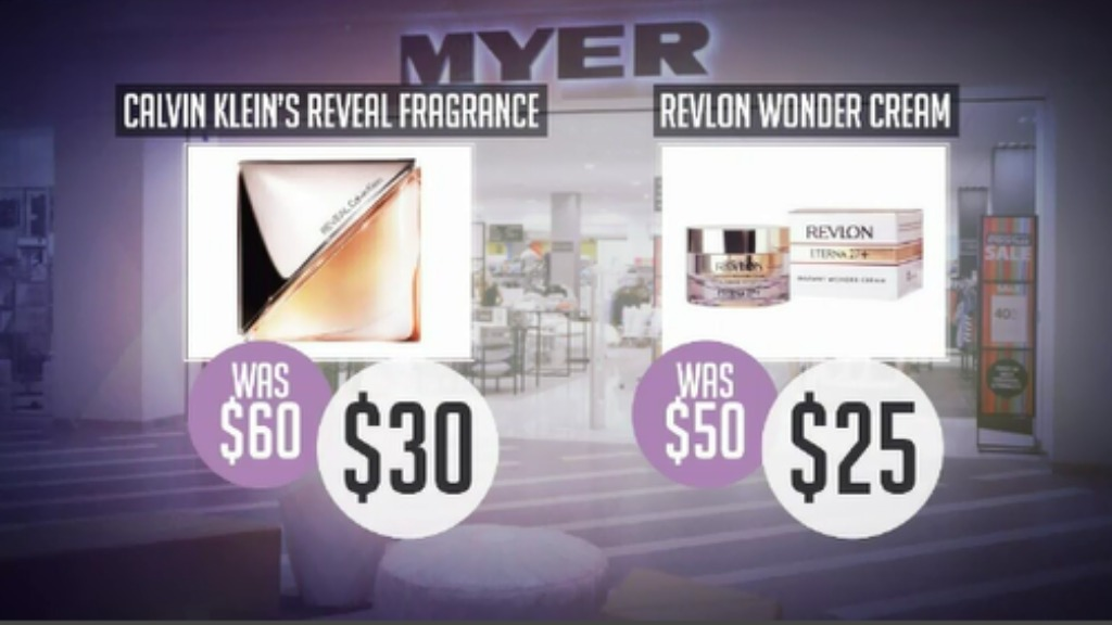 Beauty bargains at Myer.