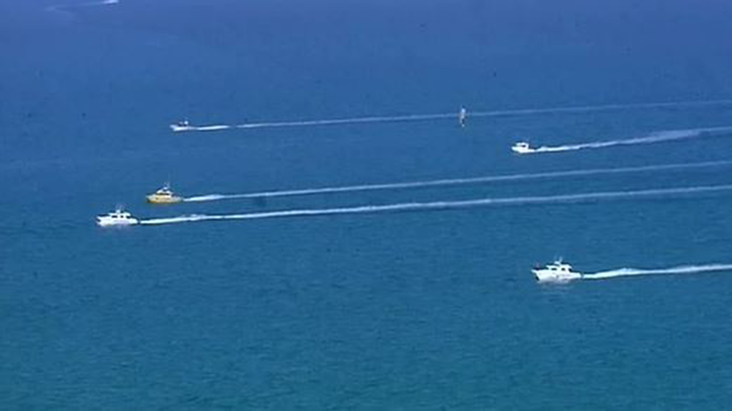Up to a dozen boats were used in the search. (9NEWS)