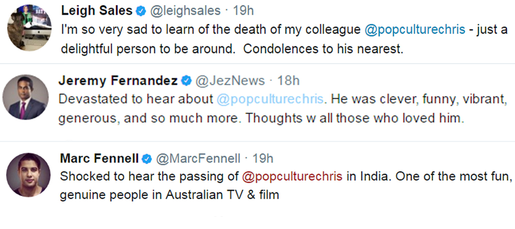 ABC staff have paid tribute to their colleague. (Twitter)