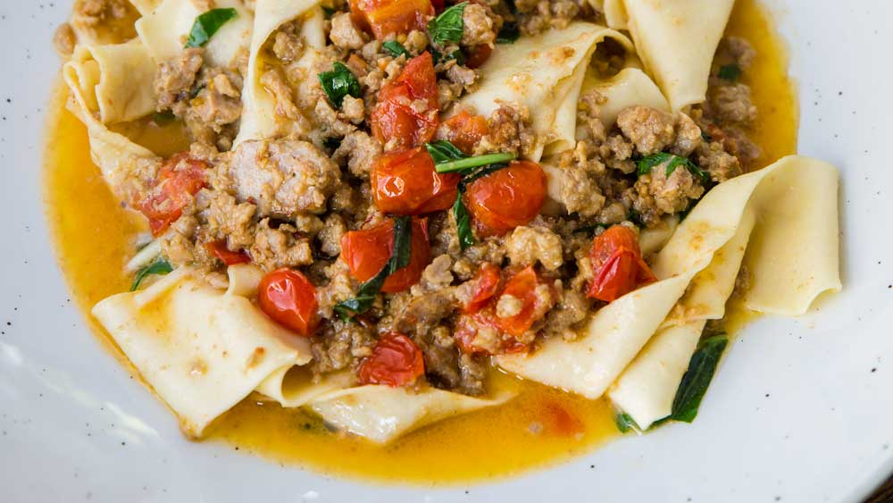Paola Toppi's Salsa Bolognese bianco with pappadelle